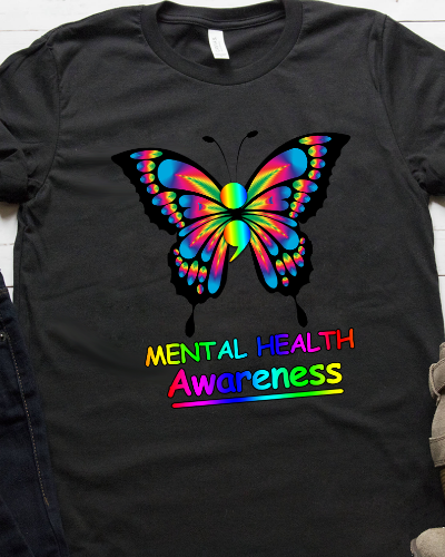 Butterfly Semicolon Project Mental Health Awareness Shirt