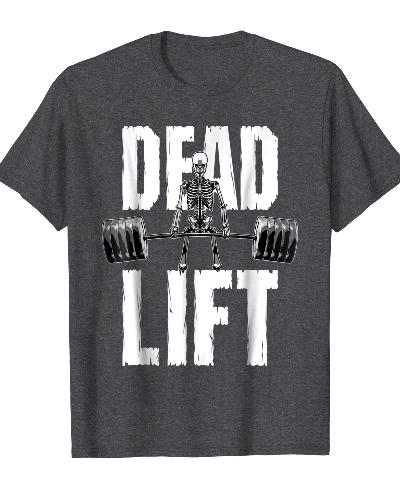 Deadlift Skeleton Gym Fitness Training T-shirt