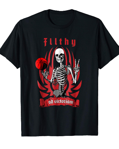Filthy Basketball Player Skeleton T-shirt
