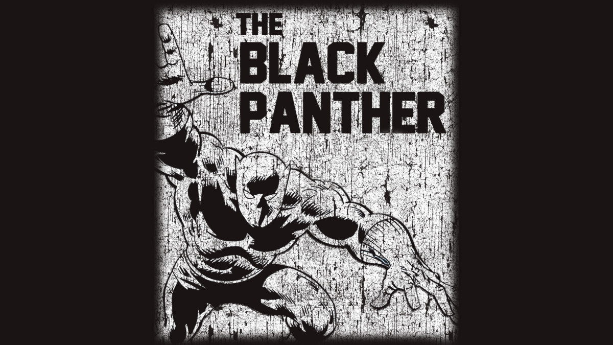 76f9d39e Black Panther Distressed T-Shirt - TeeHunter.com