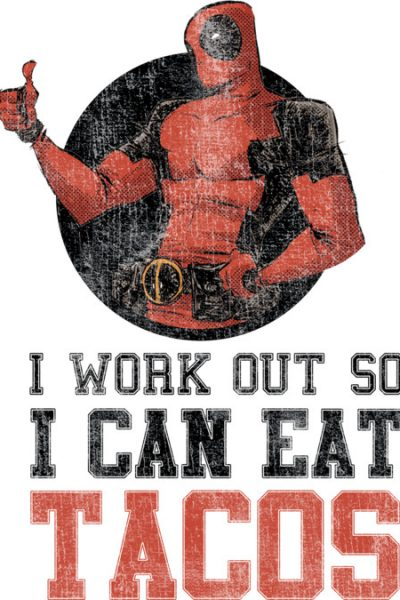 Deadpool Work Out T Shirt By Marvel Design By Humans