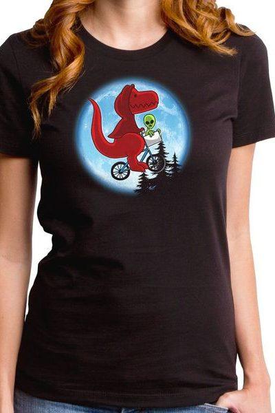 Dino Phone Home Girls T-Shirt