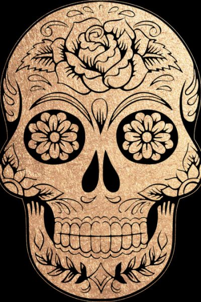 Floral Skull Tattoo Gold T Shirt By Ppanda Design By Humans