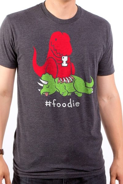 Foodie Dino Men's T-Shirt