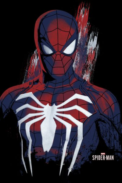 Painted Spidey T Shirt By Marvel Design By Humans
