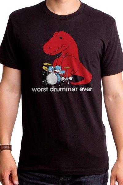 Worst Drummer Ever Dino Men's T-Shirt