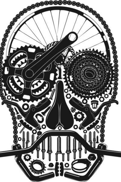 Bike Parts Skull. T Shirt By Tshirtevolution Design By Humans