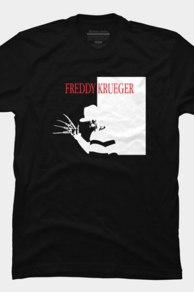 Freddy's Scarface Mashup T Shirt By Oldtee Design By Humans