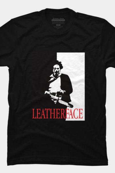 Leatherface Scarface T Shirt By Oldtee Design By Humans