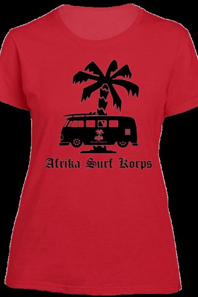Afrika Surf Korps Bus Ladies' Crew T-Shirt