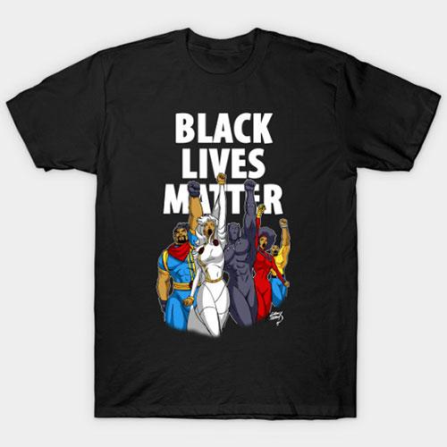 Black Lives Matter Heroes Dark T-Shirt