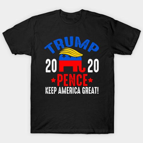 Vintage Trump Pence 2020 Elephant T-Shirt