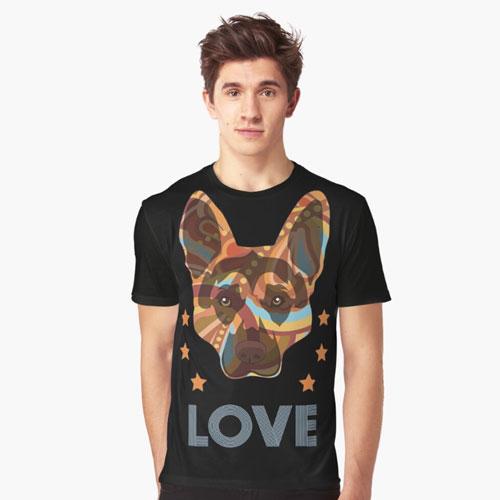 The German Shepherd Love Graphic T-Shirt