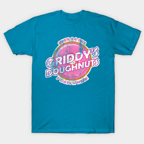 Griddy's Doughnuts, Distressed T-Shirt