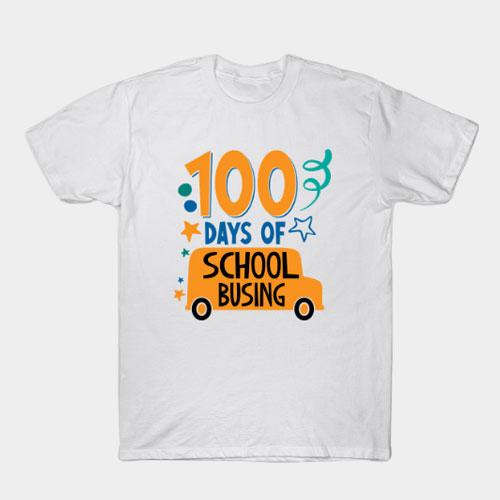 100 Days Of School Busing T-Shirt