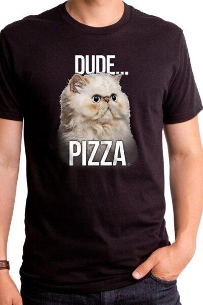 DUDE PIZZA MEN'S T-SHIRT