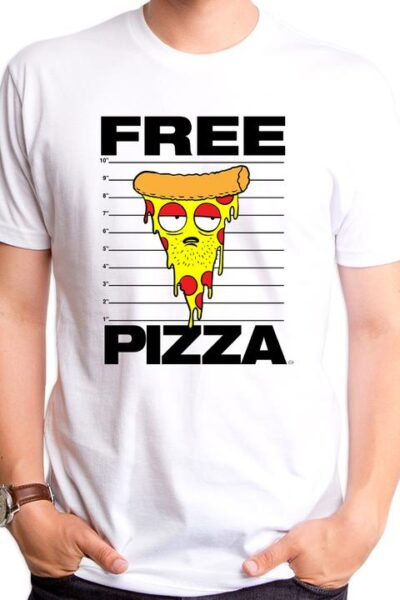 FREE PIZZA MEN'S T-SHIRT