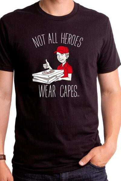 NOT ALL HEROES WEAR CAPES MEN'S T-SHIRT