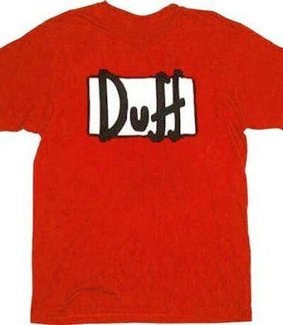 Simpsons Duff Beer Red