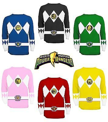 The Power Rangers Long Sleeve Costume T-shirt and Gloves