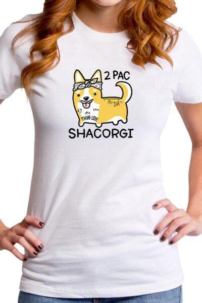 2PAC SHACORGI WOMEN'S T-SHIRT