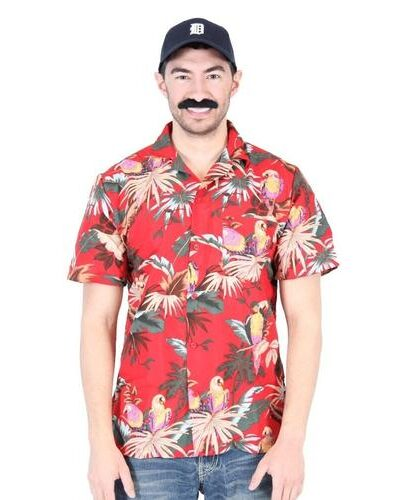 Magnum PI Tom Selleck Red Costume Shirt and Hat