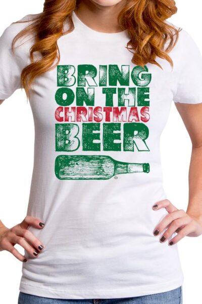 CHRISTMAS BEER WOMEN'S T-SHIRT