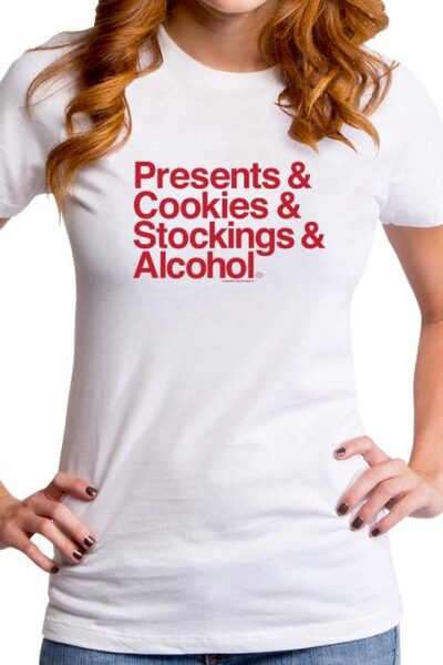 CHRISTMAS PRESENTS AND WOMEN'S T-SHIRT
