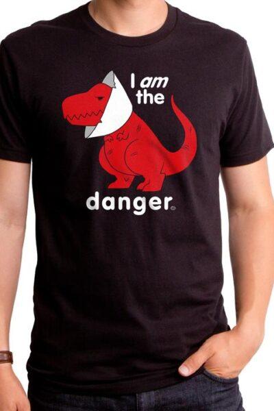 I AM THE DANGER DINO MEN'S T-SHIRT