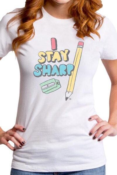 I STAY SHARP WOMEN'S T-SHIRT
