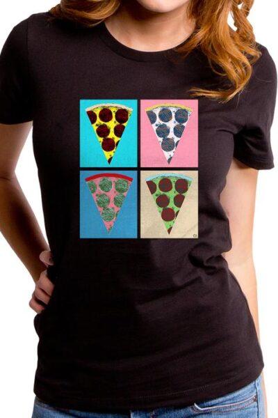 PIZZA ART WOMEN'S T-SHIRT