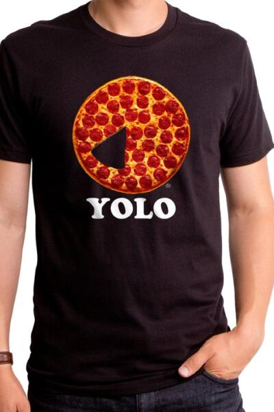 PIZZA YOLO MEN'S T-SHIRT