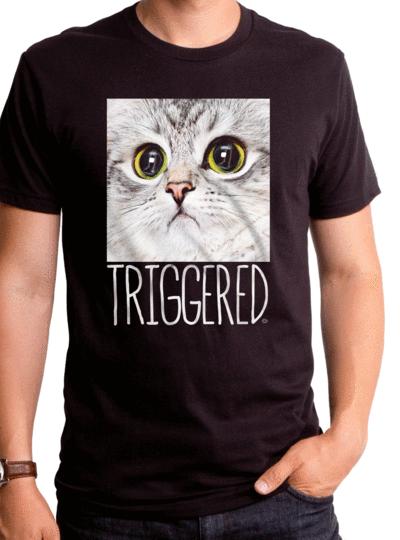 TRIGGERED CAT MEN'S T-SHIRT