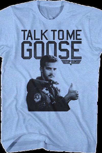 Blue Talk To Me Goose Top Gun