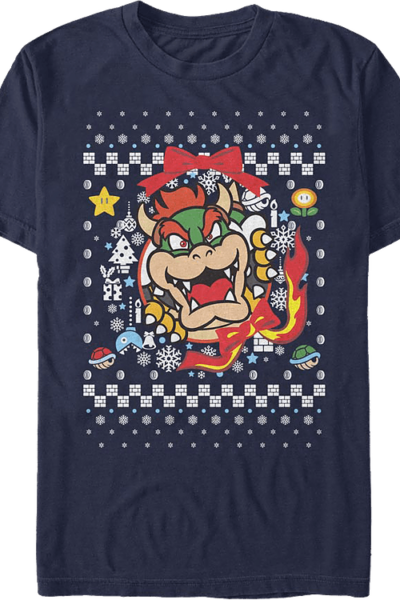 Bowser Ugly Faux Knit Super Mario Bros.