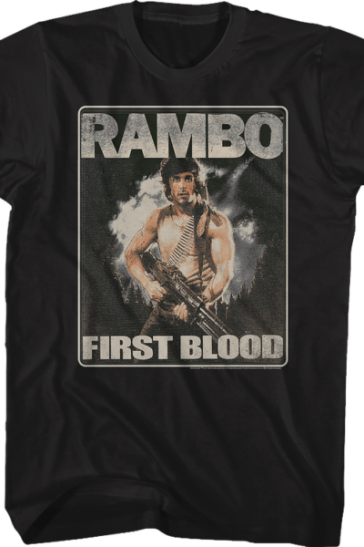 Distressed First Blood Poster Rambo