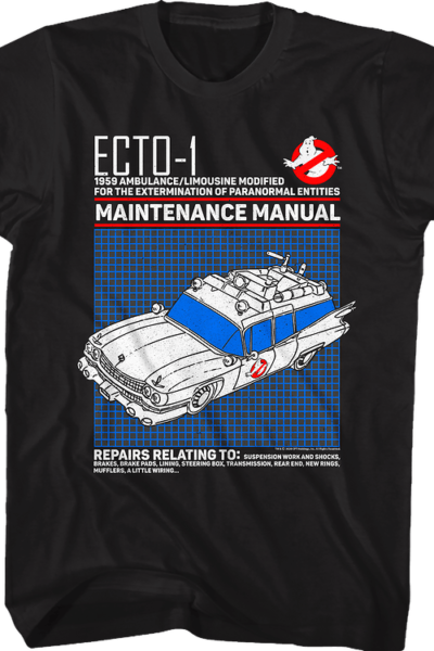 Ecto-1 Maintenance Manual Real Ghostbusters