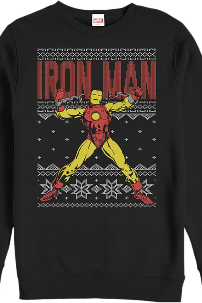 Faux Ugly Iron Man Christmas Sweater