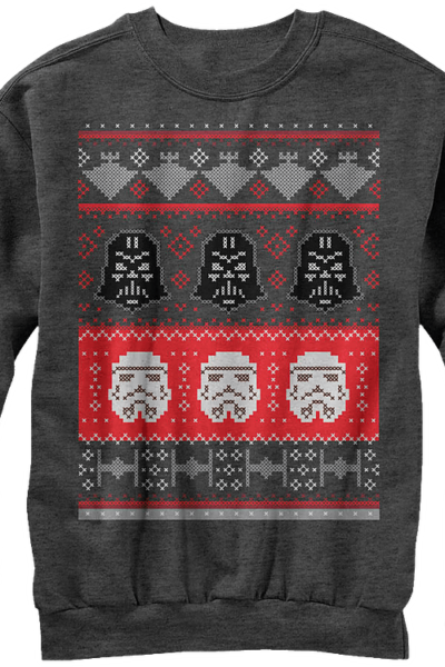 Galactic Helmets Star Wars Faux Ugly Christmas Sweater