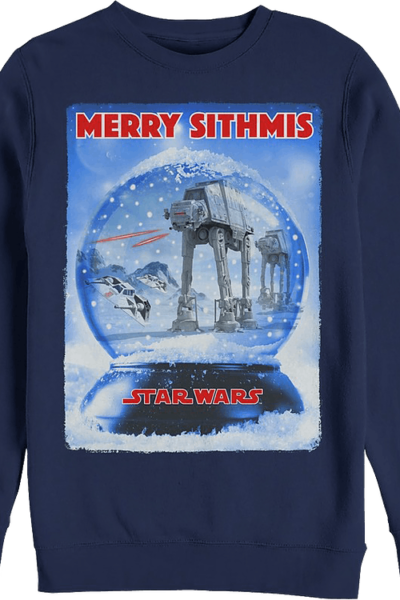 Battle of Hoth Snow Globe Star Wars Sweatshirt