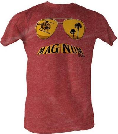 Magnum P.I. Glasses Mustache Burgundy