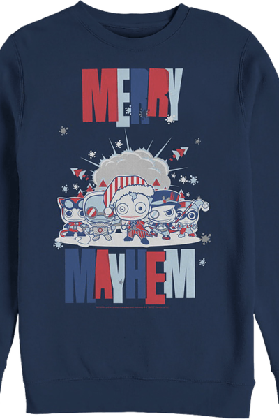 Merry Mayhem DC Comics Christmas Sweatshirt