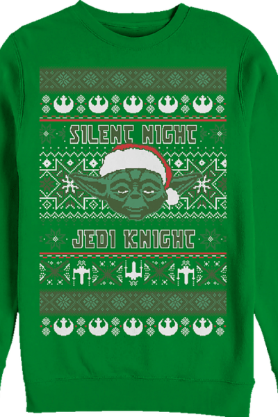 Silent Night Jedi Knight Star Wars Yoda Christmas Sweatshirt