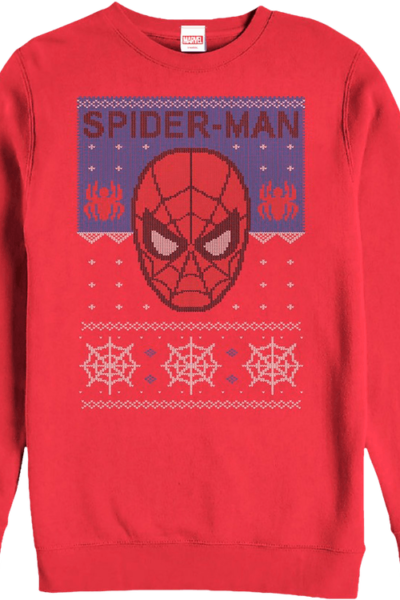 Spider-Man Faux Ugly Christmas Sweater