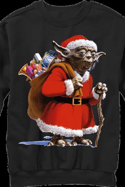 Star Wars Yoda Santa Claus Ugly Faux Christmas Sweater