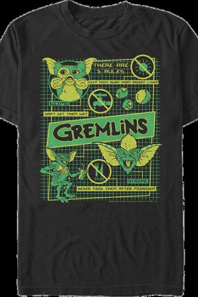 3 Rules Gremlins T-Shirt