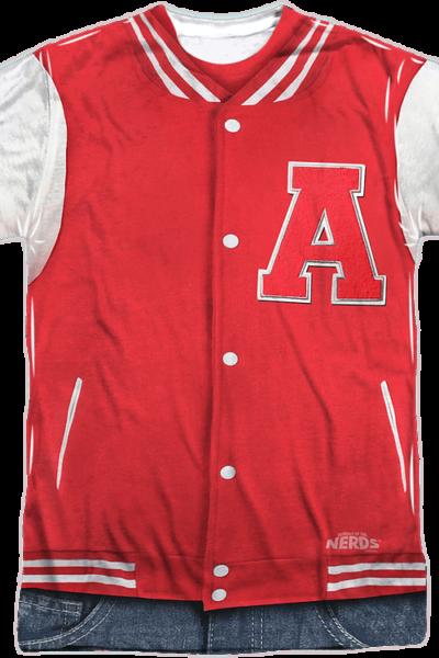 Adams Atoms Lettermens Jacket T-Shirt