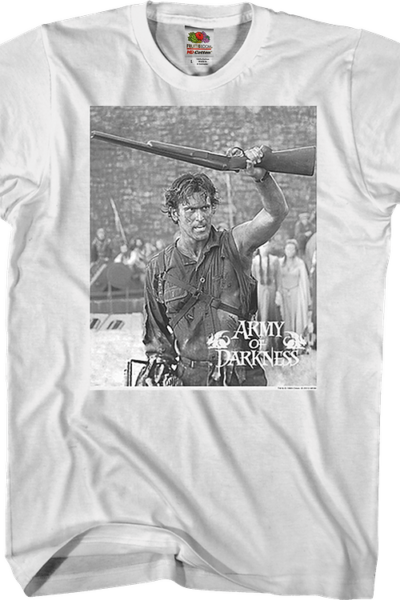 Black and White Boom Stick Army of Darkness T-Shirt