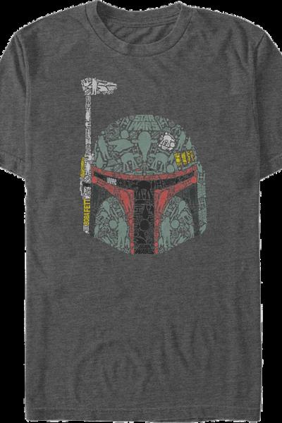 Boba Fett Helmet Collage Star Wars T-Shirt