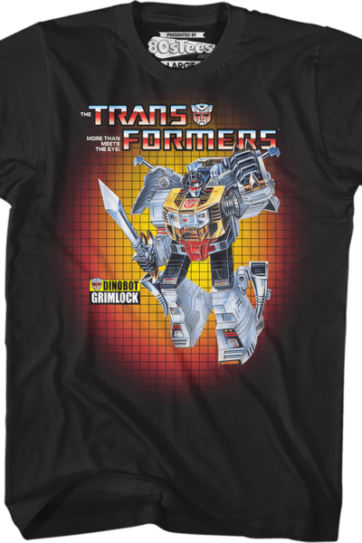 Box Art Grimlock Transformers T-Shirt